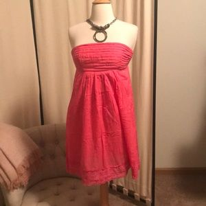 J Crew-adorable pink strapless sundress